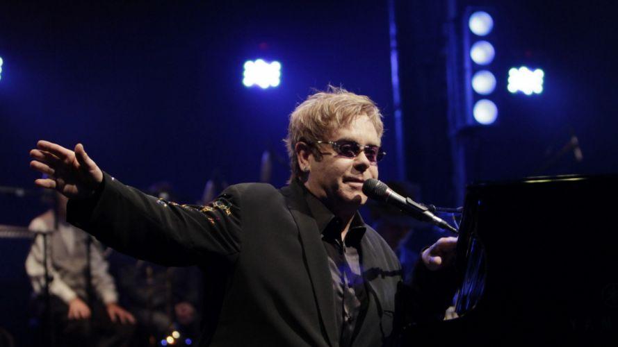 ELTON JOHN rock pop glam classic piano r-b concert concerts microphone wallpaper
