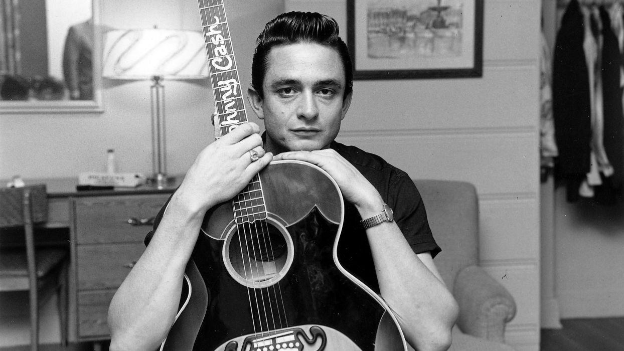 JOHNNY CASH country gospel rock roll guitar guitars    g wallpaper