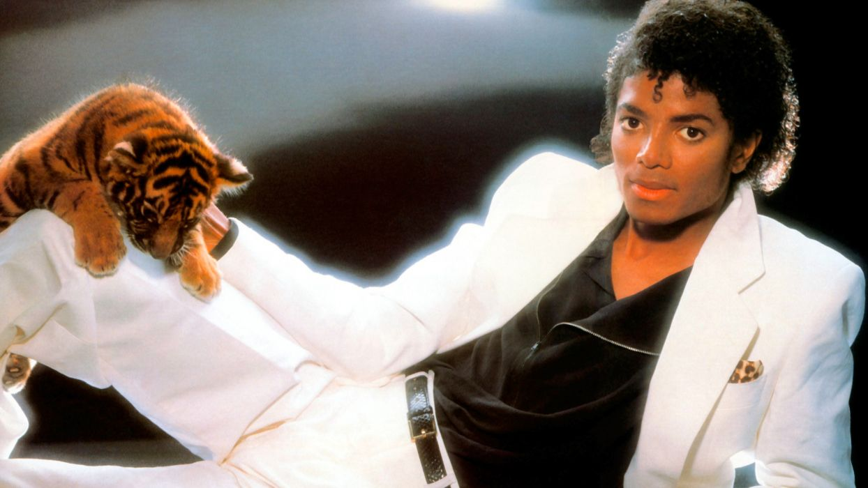 MICHAEL JACKSON r-b pop dance tiger wallpaper