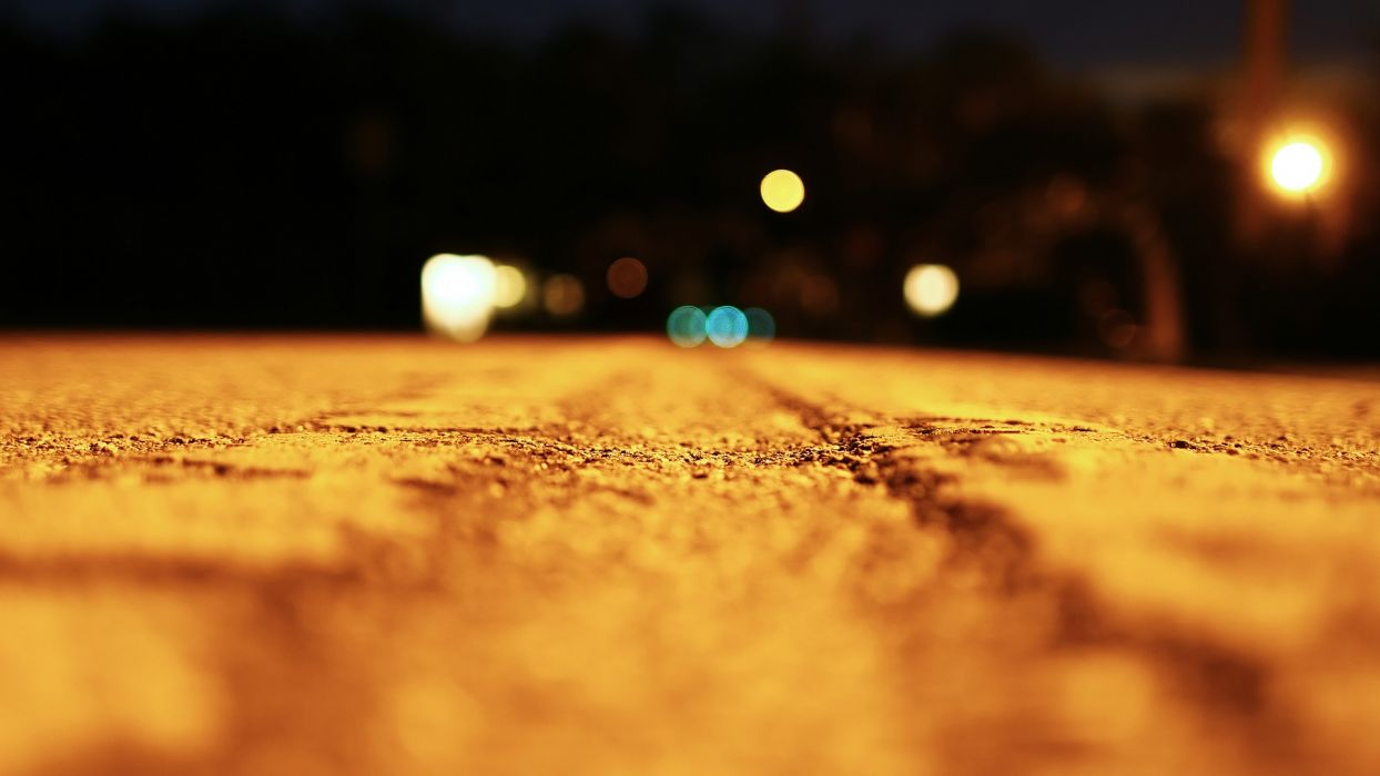 macro road roads bokeh wallpaper
