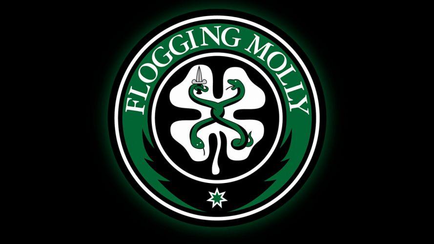 FLOGGING MOLLY celtic folk punk rock logo wallpaper