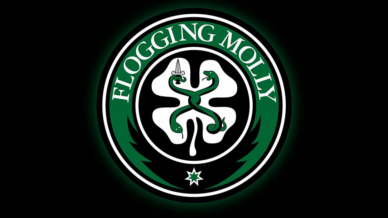 FLOGGING MOLLY celtic folk punk rock logo wallpaper