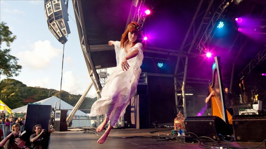 FLORENCE AND THE MACHINE indie rock concert concerts wallpaper