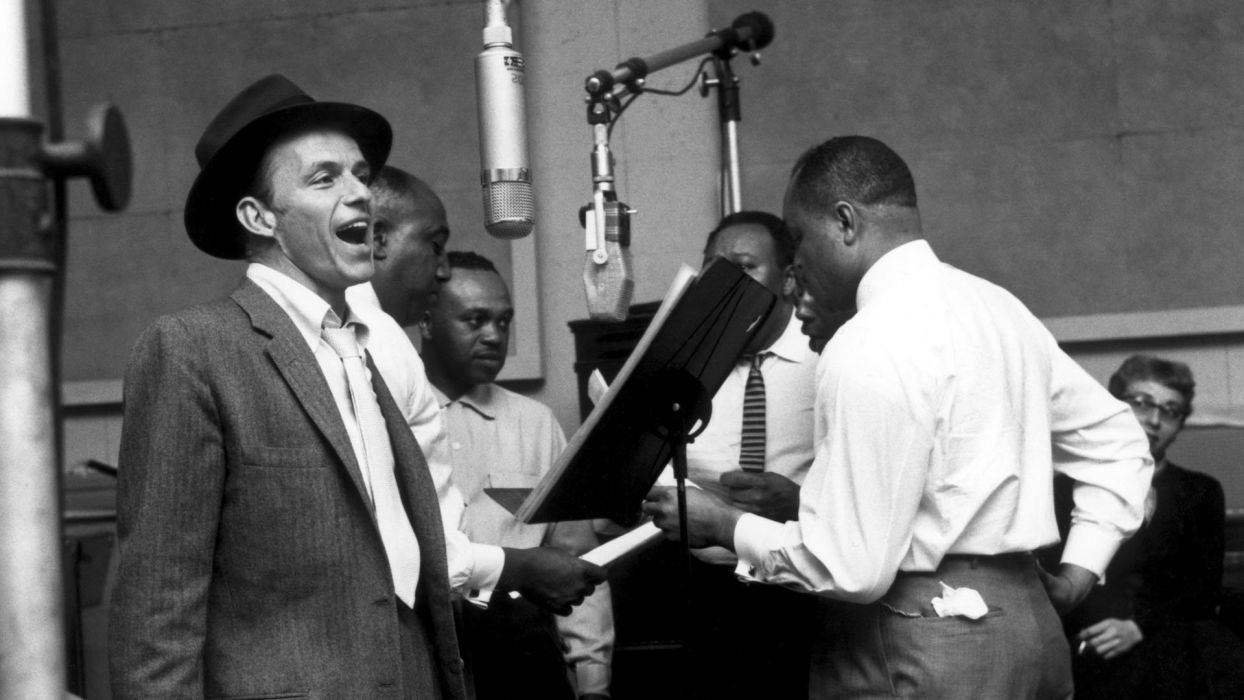 FRANK SINATRA traditional pop jazz swing big-band vocal   D wallpaper
