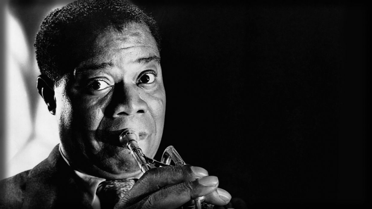 LOUIS ARMSTRONG dixieland jazz swing traditional-pop       G wallpaper