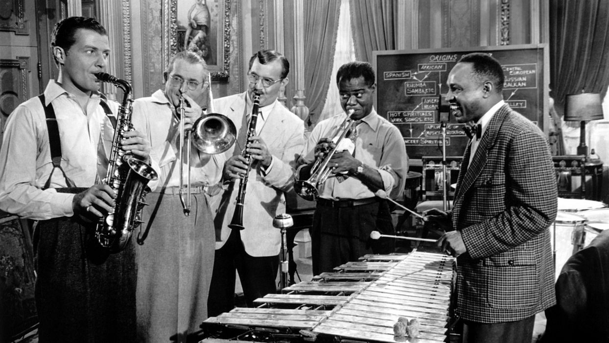 LOUIS ARMSTRONG dixieland jazz swing traditional-pop   F wallpaper