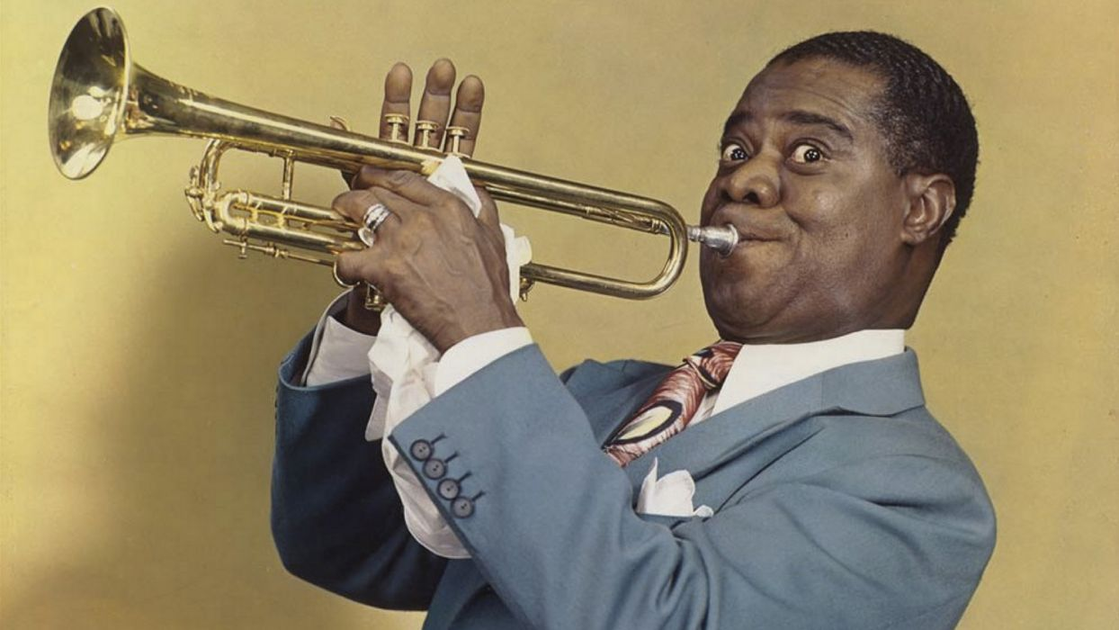 LOUIS ARMSTRONG dixieland jazz swing traditional-pop wallpaper