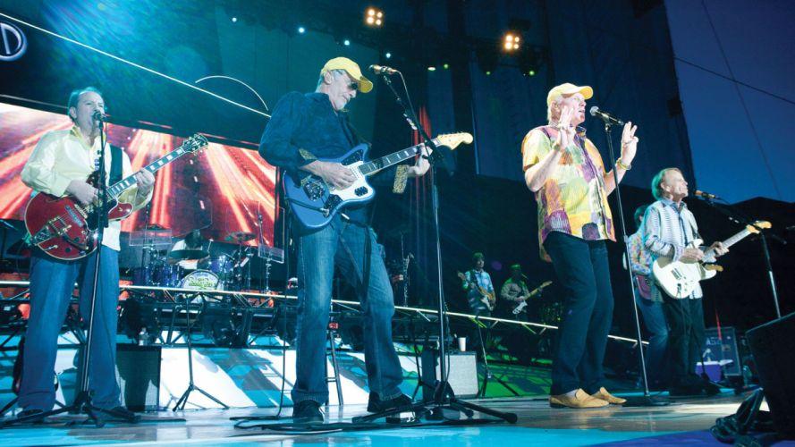 THE BEACH BOYS pop rock surf guitar guitars concert concert microphone wallpaper