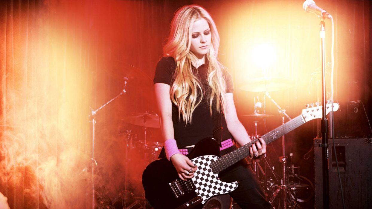 AVRIL LAVIGNE pop pop-punk pop-rock guitar guitars concert concerts wallpaper
