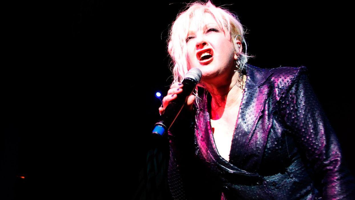CYNDI LAUPER Pop pop-rock New-Wave dance soul new wave microphone concert concerts wallpaper