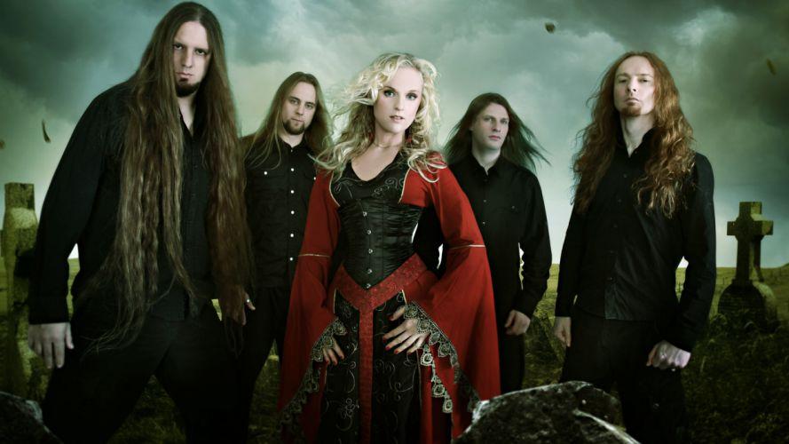 LEAVES EYES symphonic metal Gothic folk heavy ge wallpaper