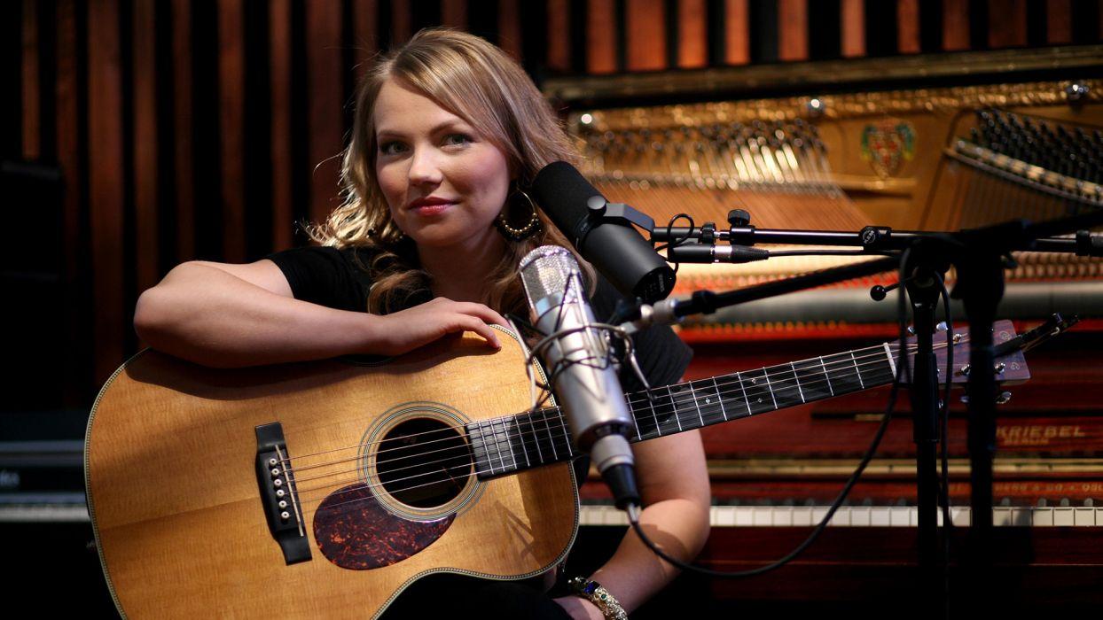 LENE MARLIN acoustic pop guitar guitars wallpaper