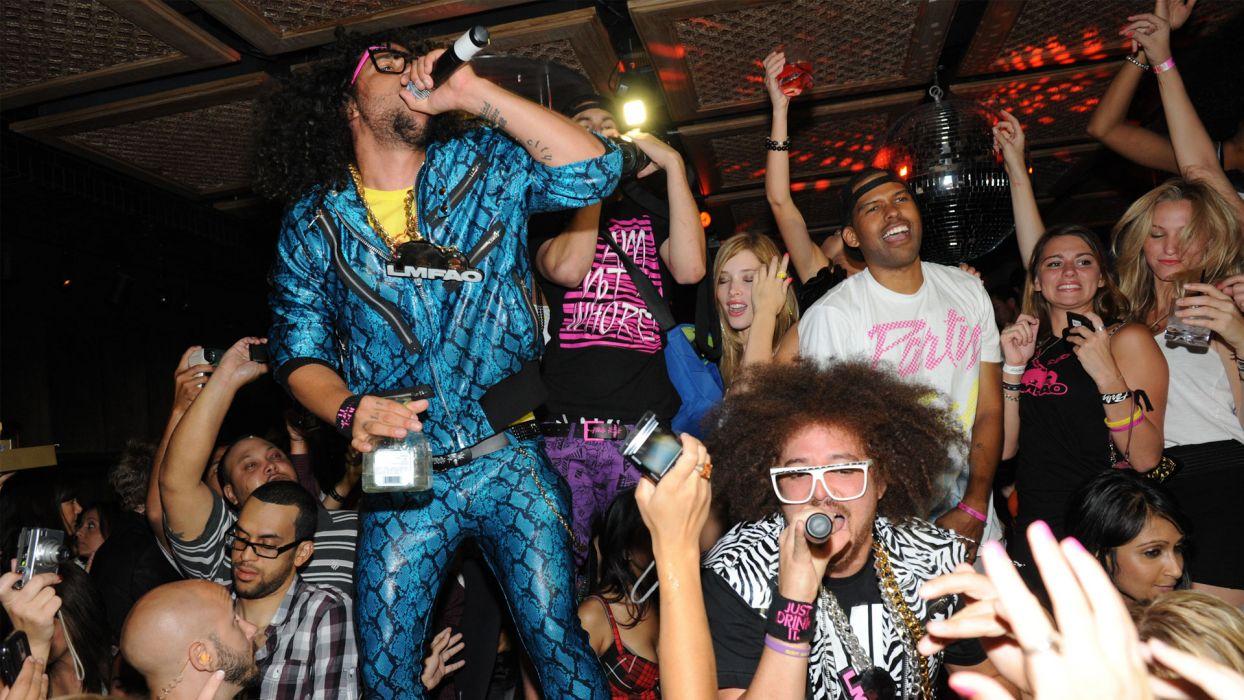 LMFAO dance pop hip hop crowd people wallpaper