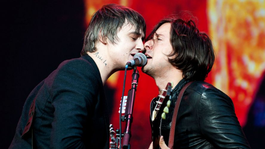 THE LIBERTINES indie rock microphone concert concerts wallpaper