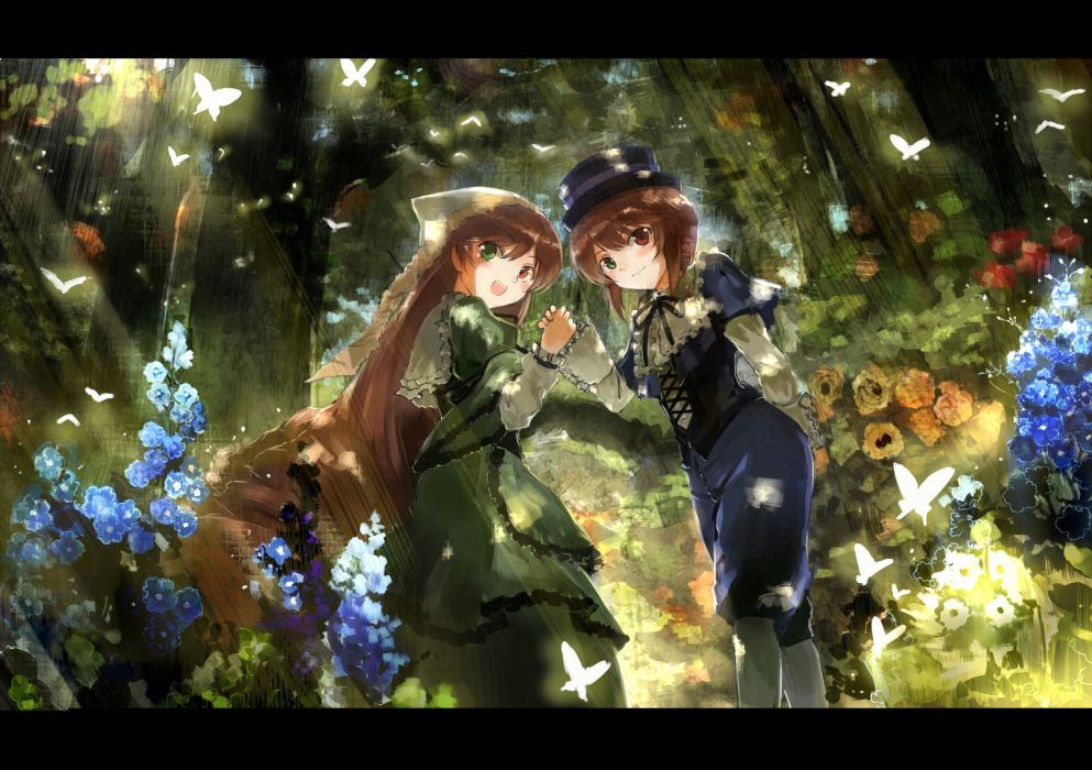 rozen maiden bicolored eyes souseiseki suiseiseki ultimate asuka wallpaper
