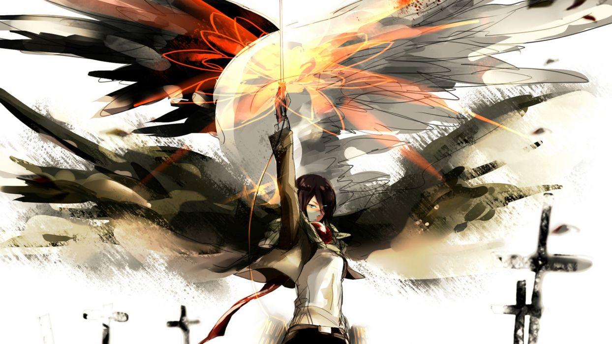 Attack on Titan Anime Drawing Mikasa Ackerman wallpaper