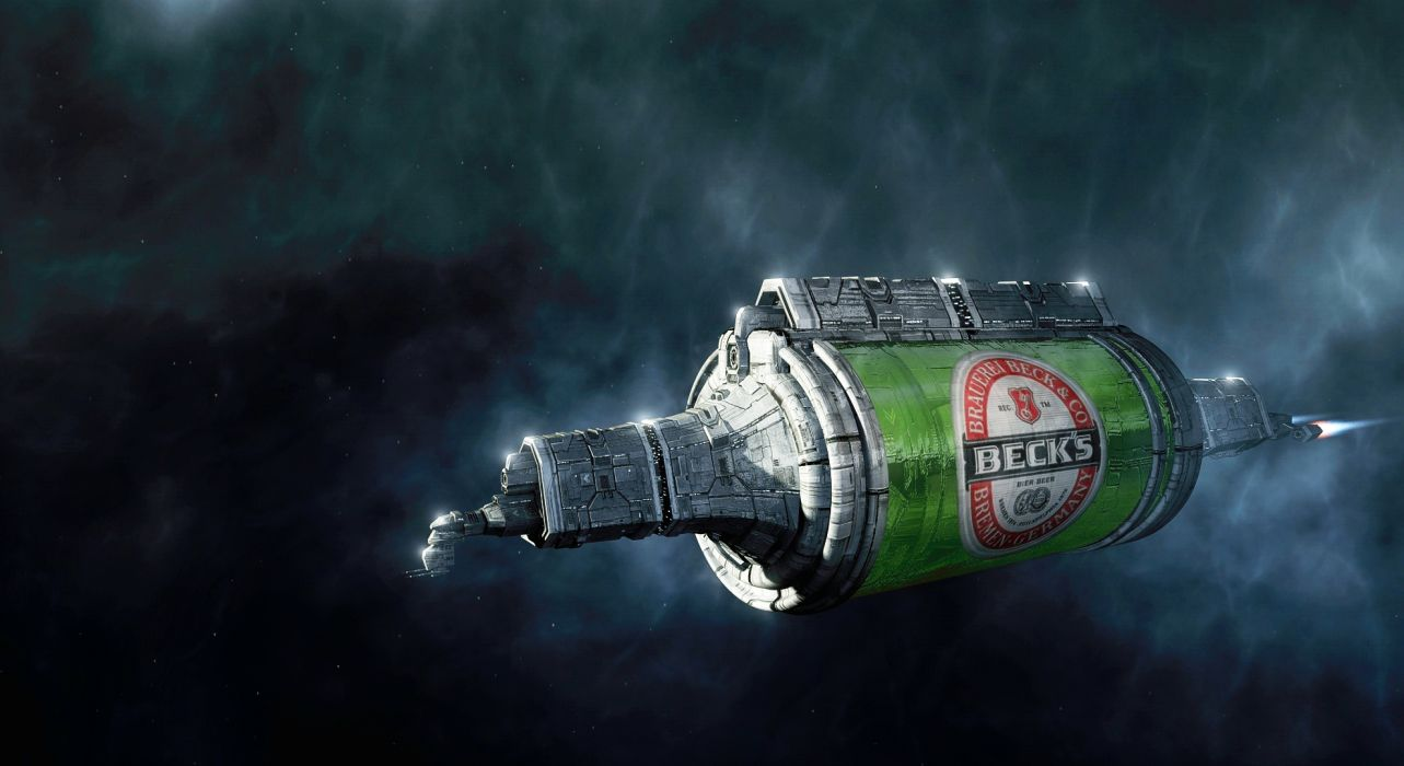 Becks Beer Alcohol Spaceship WTF wallpaper