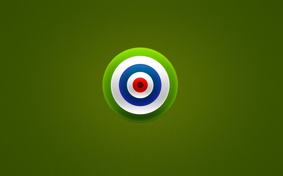 Bullseye Green wallpaper