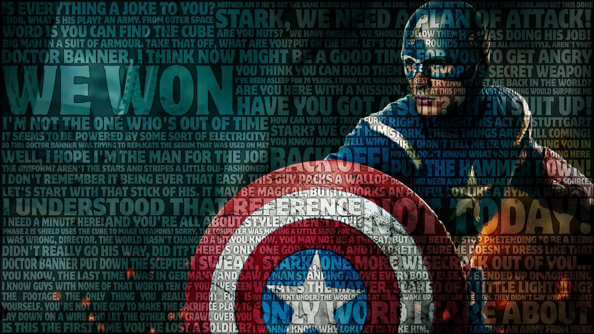 Captain America Avengers Typography Wallpaper