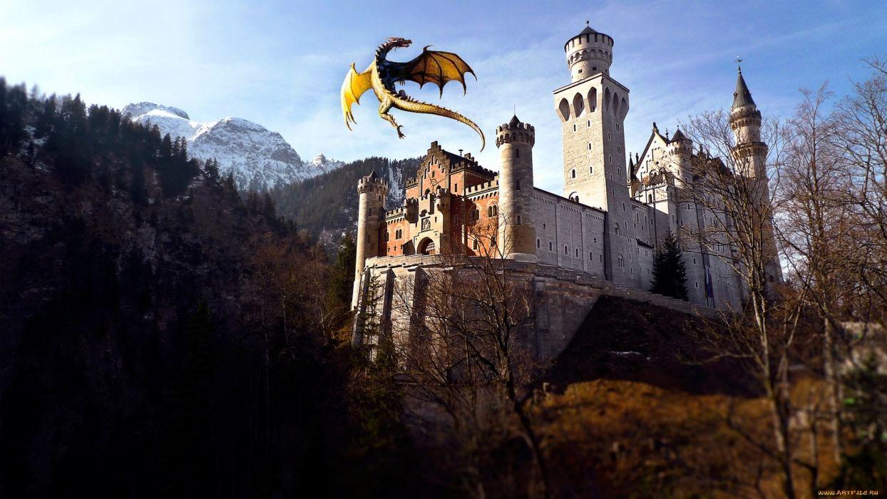Dragon Castle wallpaper