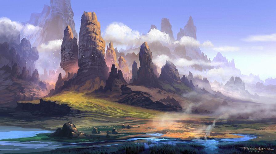 Fantastic world Fantasy wallpaper