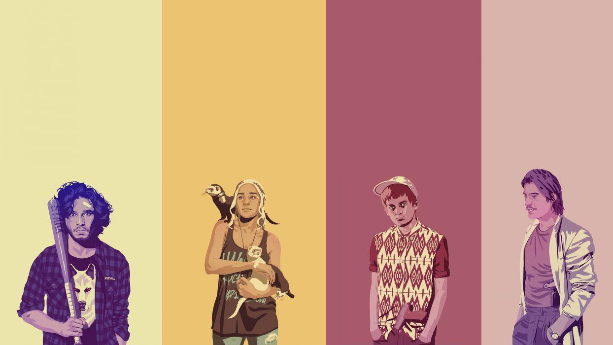 Game Of Thrones Daenerys Targaryen Jon Snow Jaime Lannister Joffrey Baratheon Wallpaper