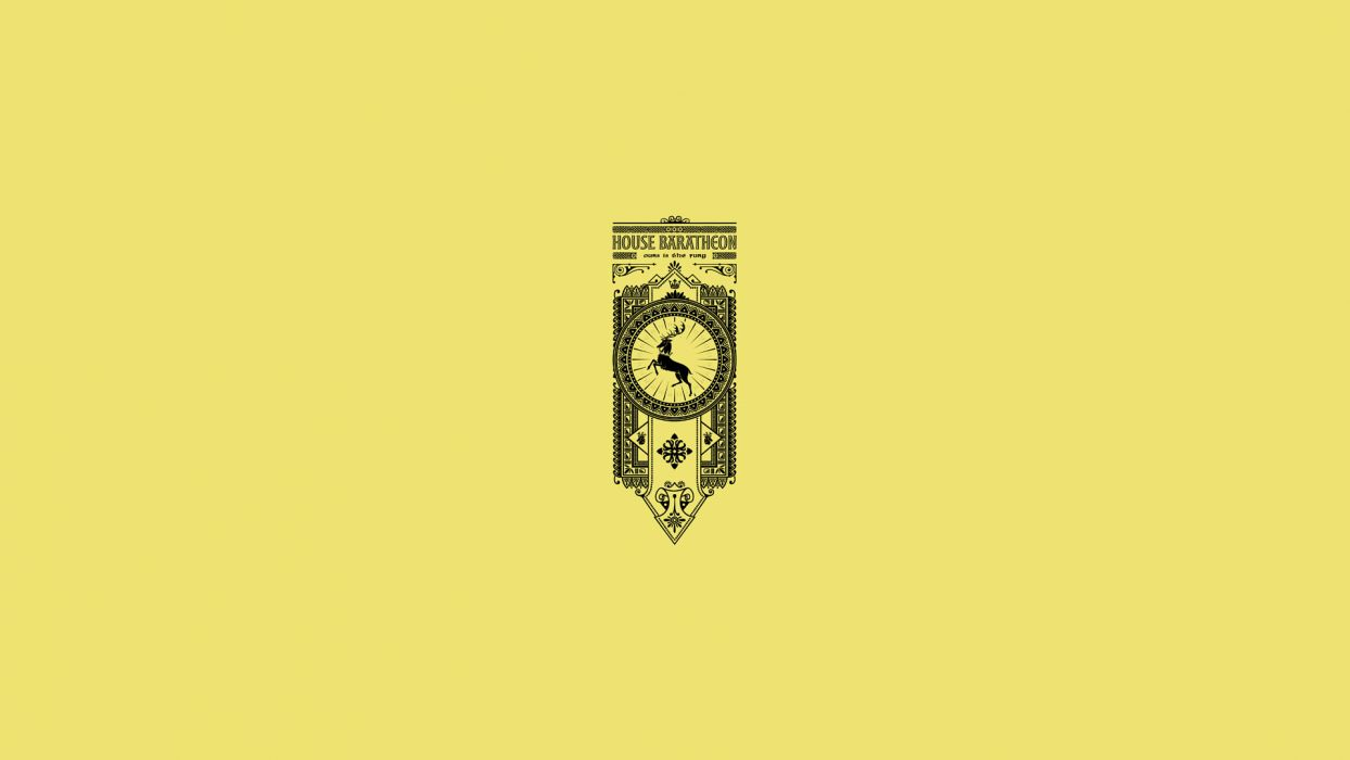 Game of Thrones Song of Ice and Fire Baratheon Minimal Yellow wallpaper