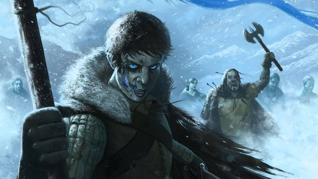 Game Of Thrones Song Of Ice And Fire Drawing White Walkers