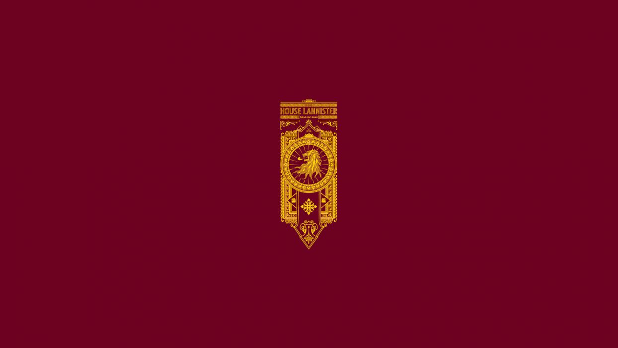 Game of Thrones Song of Ice and Fire Lannister Minimal wallpaper