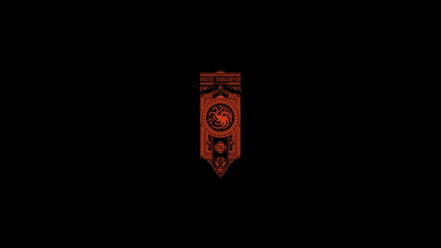 Game of Thrones Song of Ice and Fire Targaryen Minimal Black wallpaper