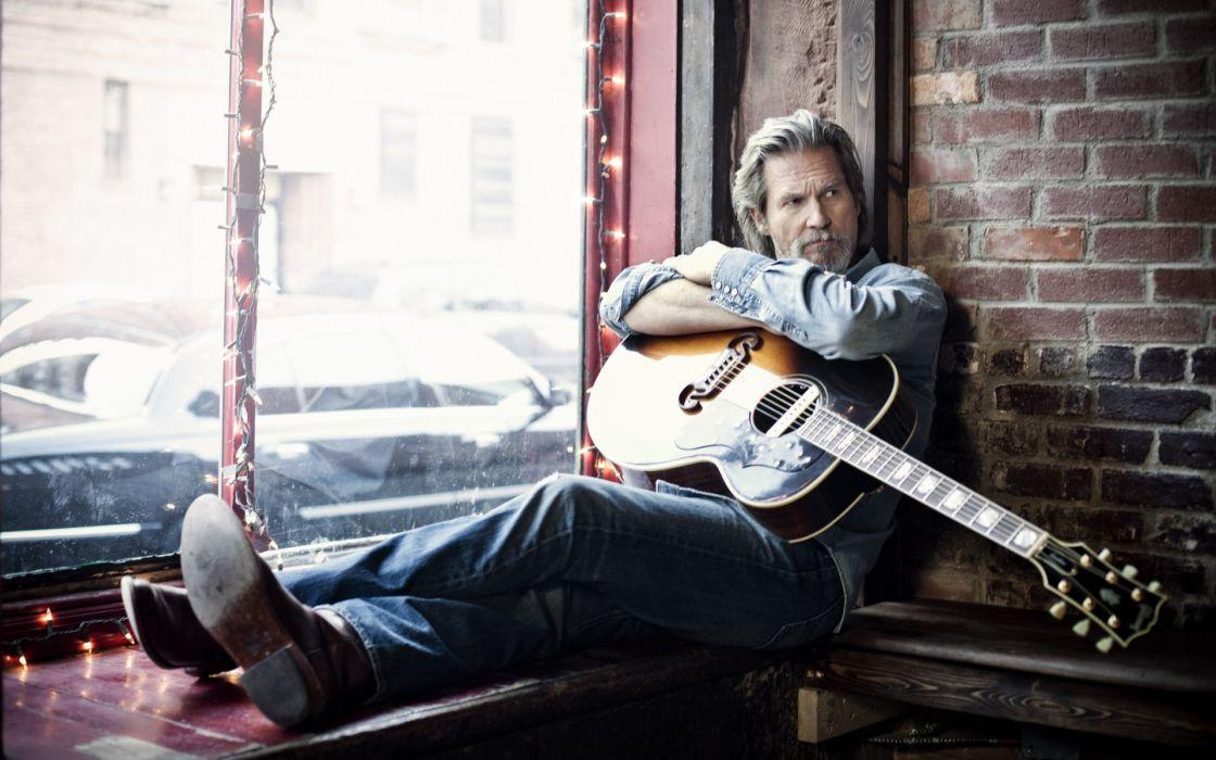 Jeff Bridges Guitar actor guitars wallpaper
