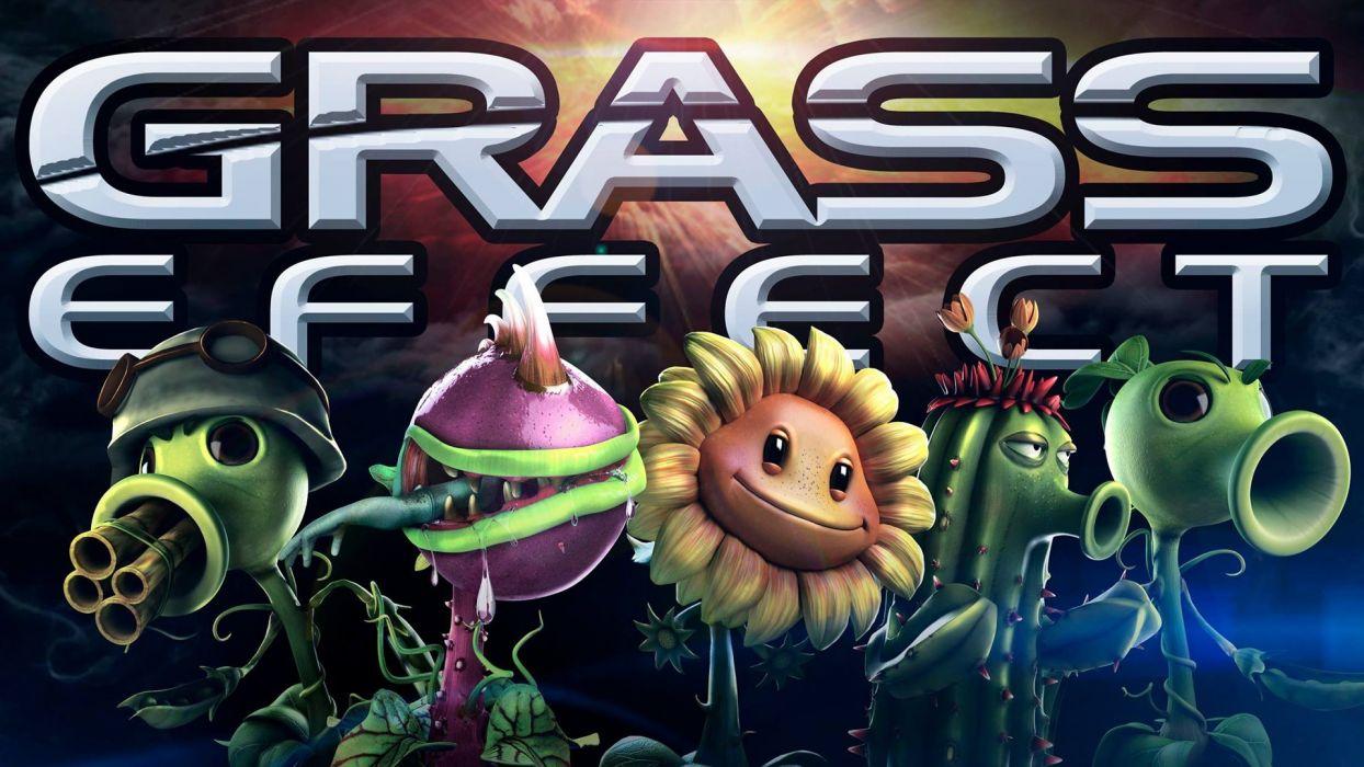 Mass Effect Plants vs Zombies wallpaper