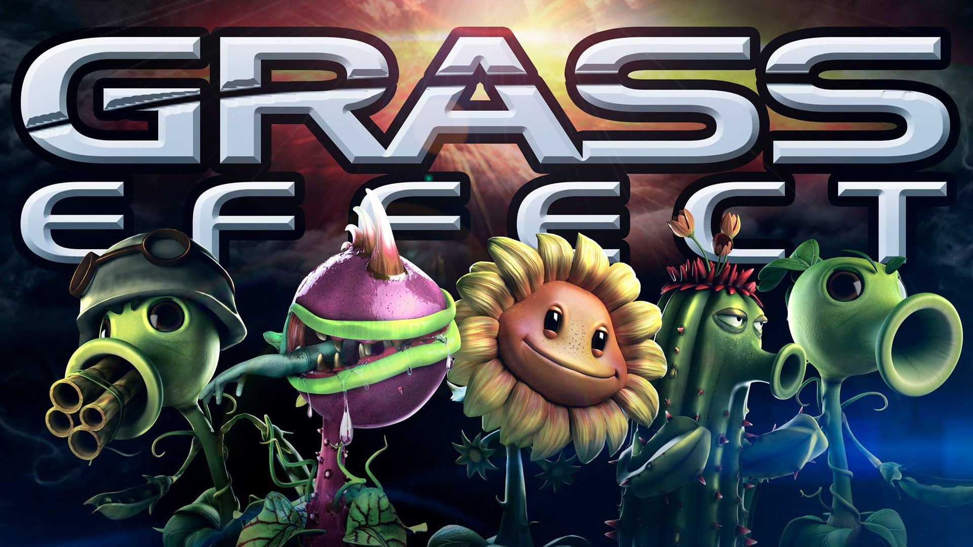 mass effect plants vs zombies wallpaper | 1920x1080 | 100632