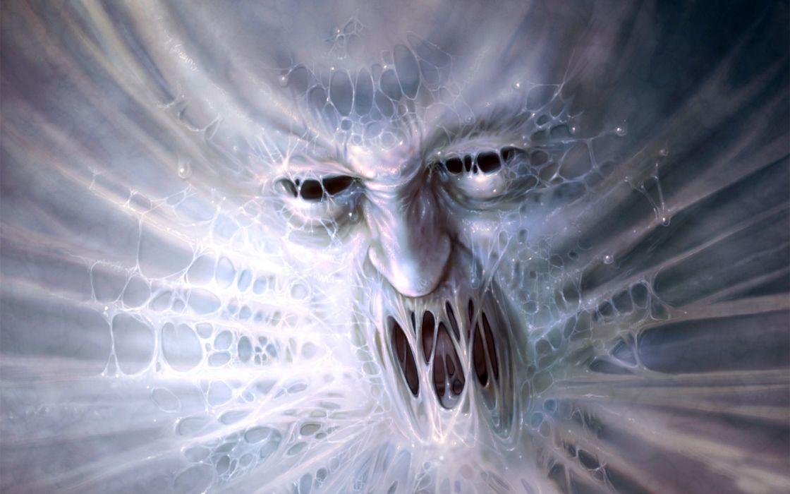 Monsters Face Fantasy Monster dark wallpaper