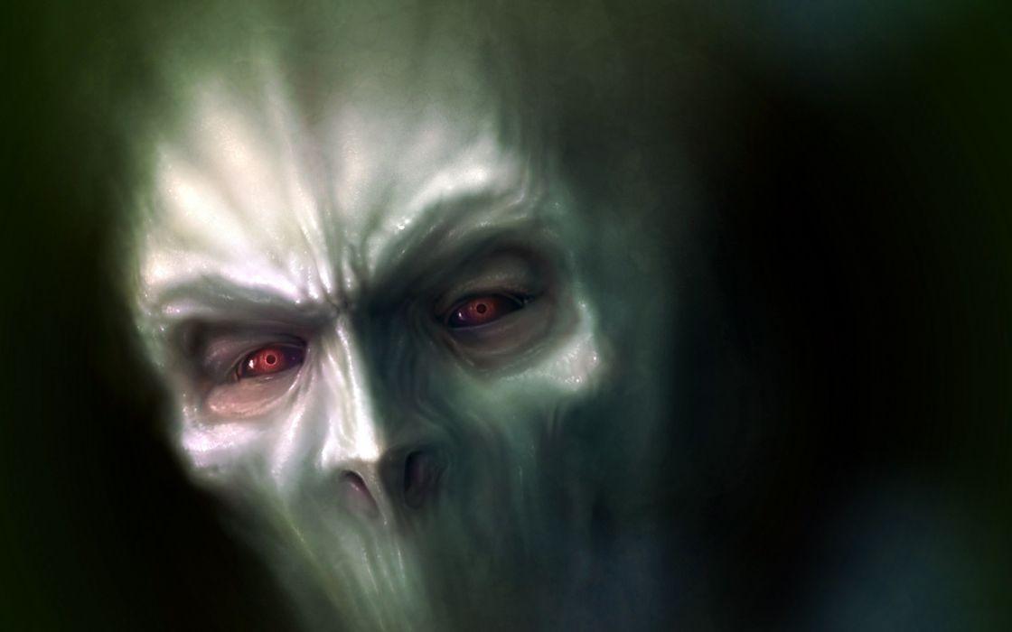 Monsters Face Glance Fantasy Monster evil horror wallpaper