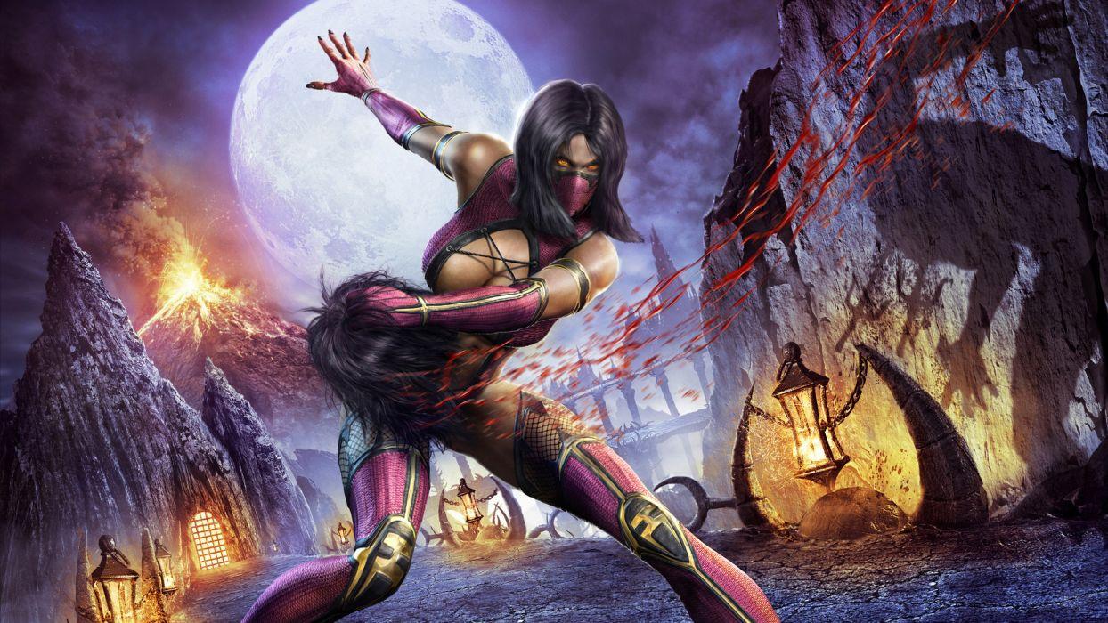 Mortal Kombat Warriors Blood Games Girls wallpaper