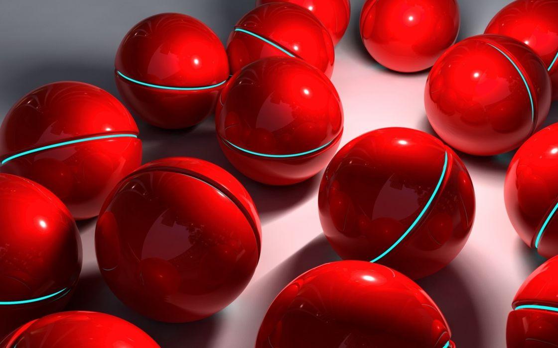 red balls wallpaper
