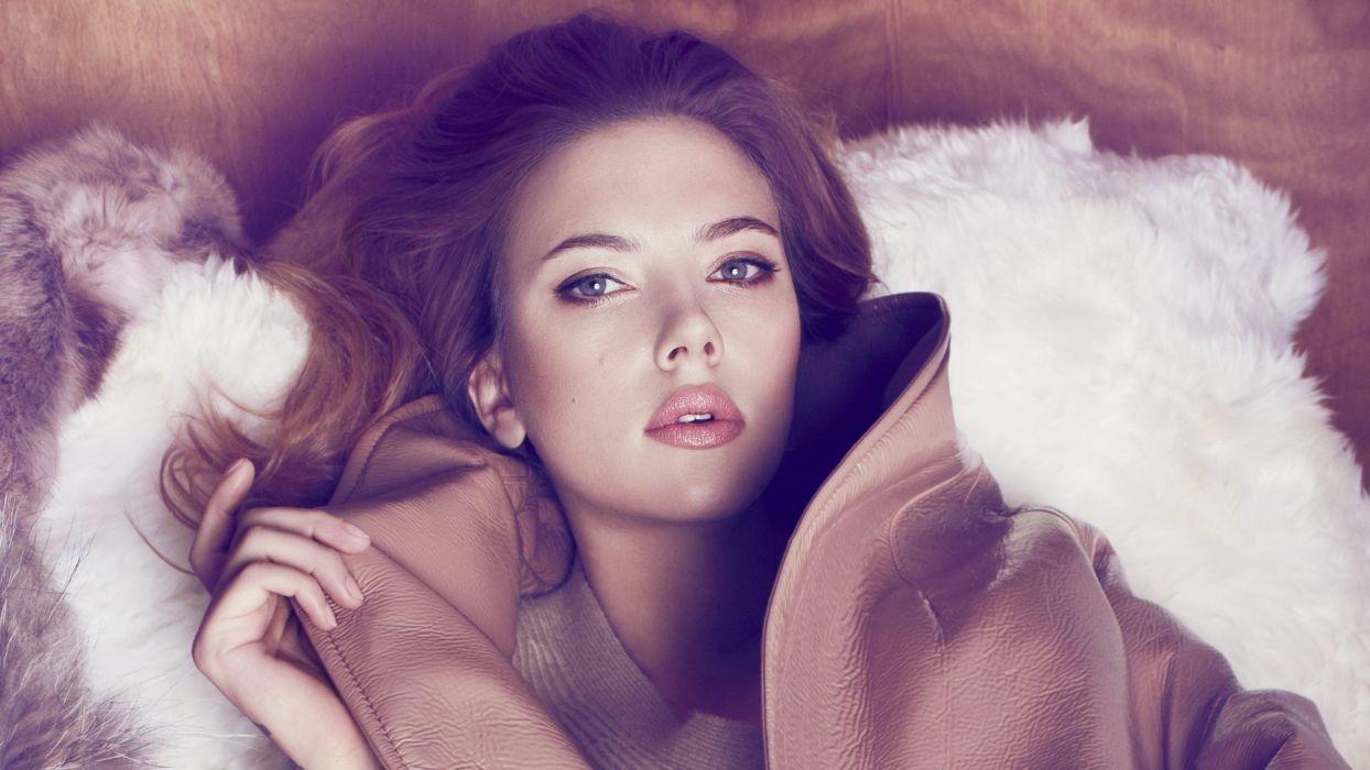 Scarlett Johansson Blonde Face wallpaper