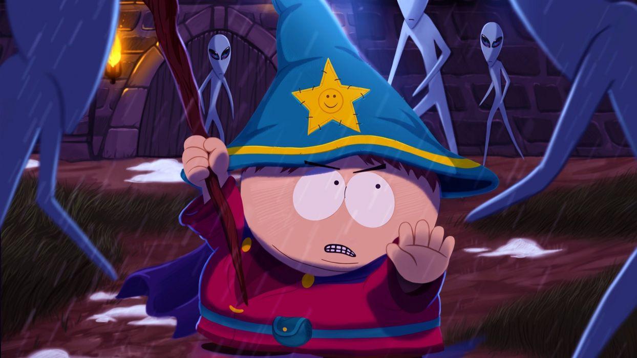 South Park Cartman Alien Rain Wizard wallpaper
