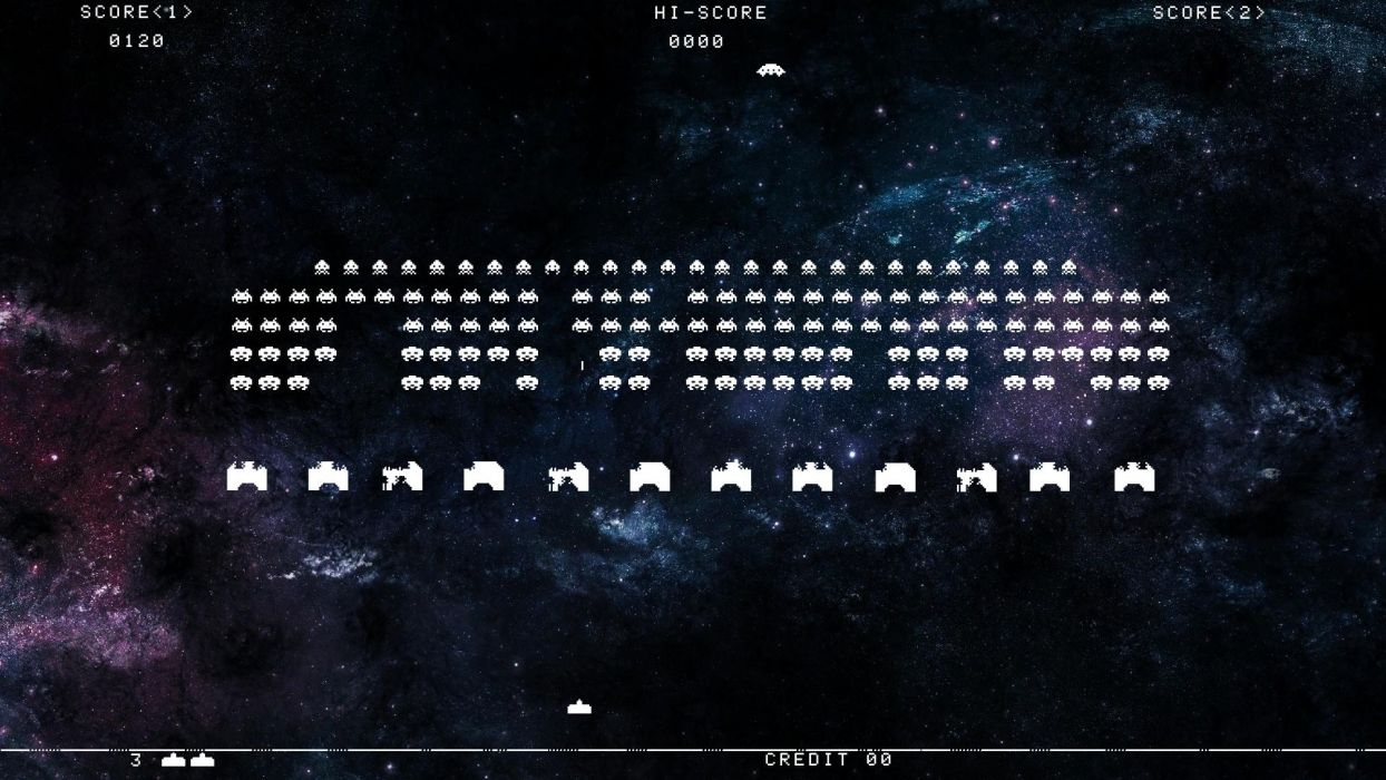 Space Invaders     f wallpaper