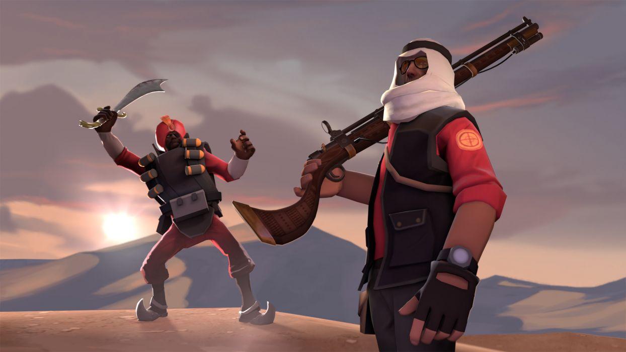Team Fortress Rifle Sword wallpaper