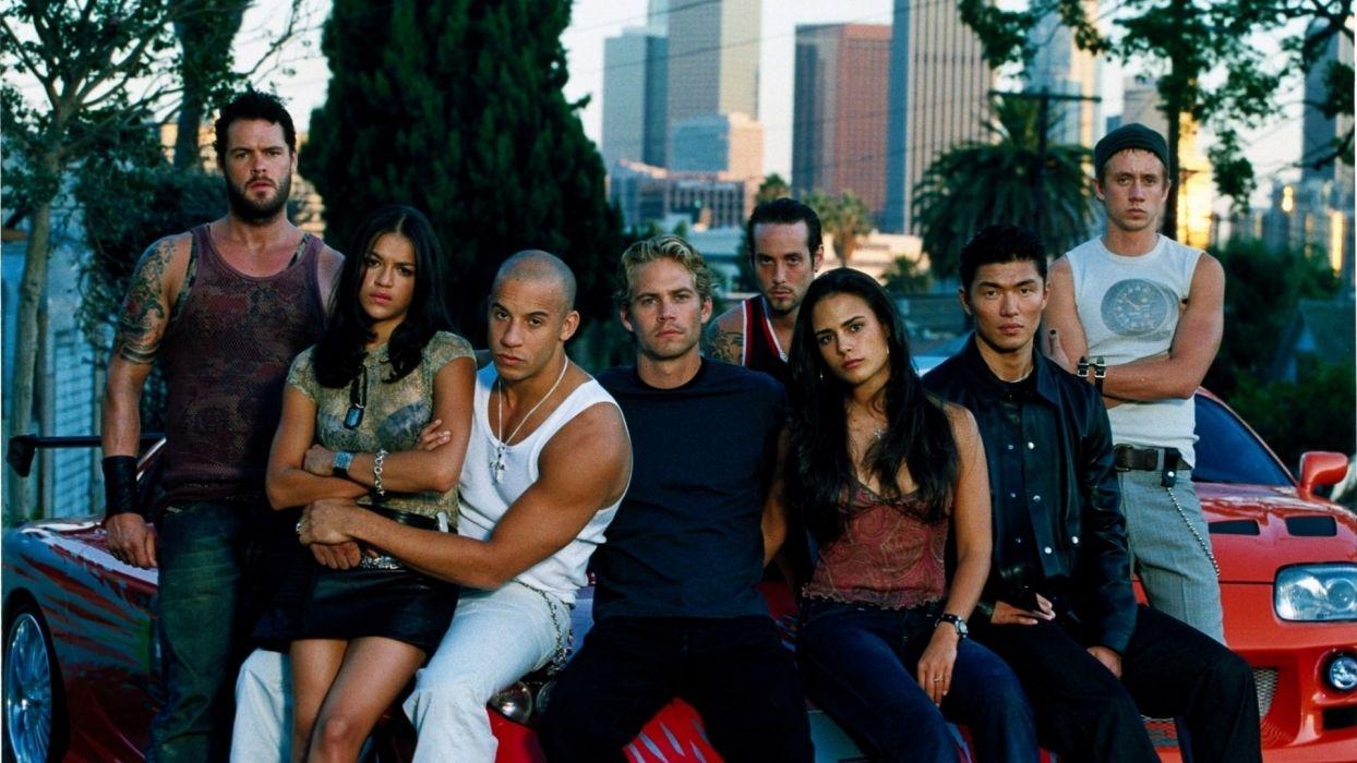 The Fast and the Furious Vin Diesel Paul Walker Jordana Brewster Michelle Rodriguez  wallpaper