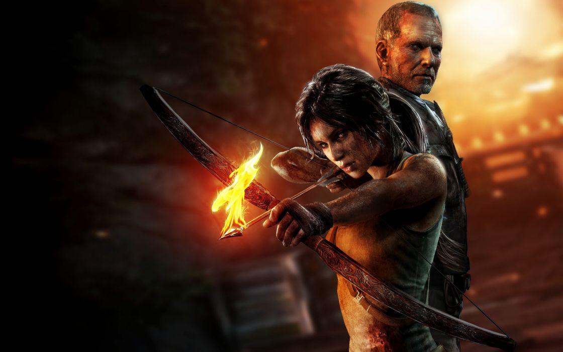 Tomb Raider 2013 Archers Warriors Fire Lara Croft Games Girls wallpaper