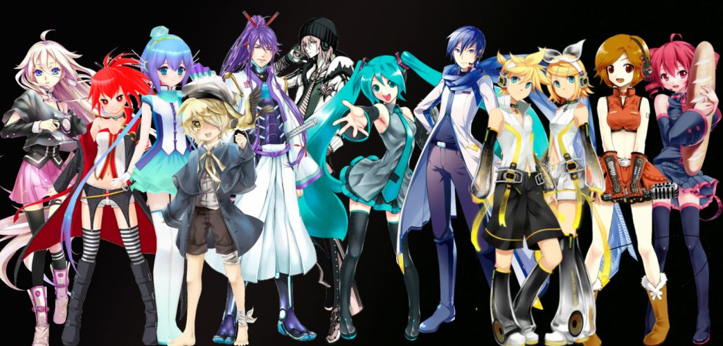 Vocaloid multi dual wallpaper