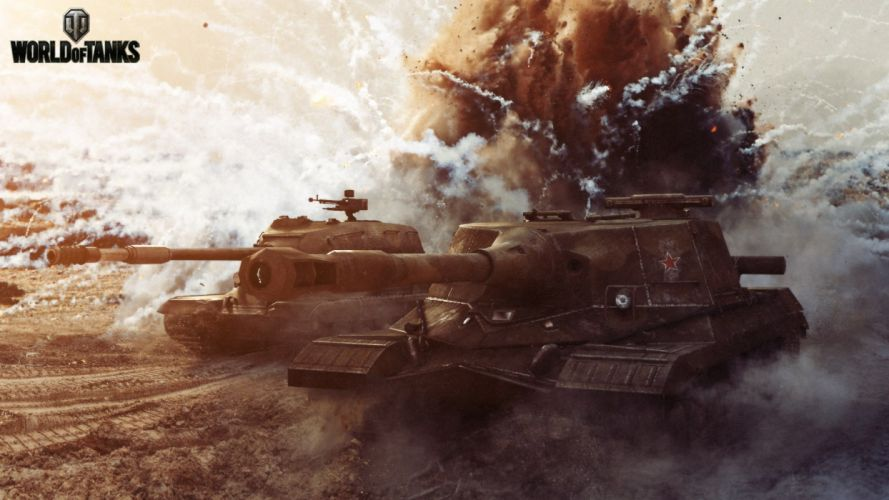 World of Tanks Tanks Object 268 and ST-1 Games military wallpaper