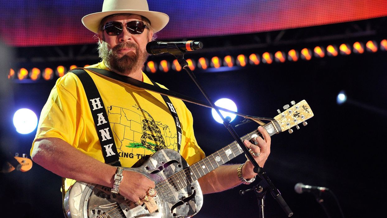 HANK WILLIAMS JR country guitar concert microphone  fe wallpaper