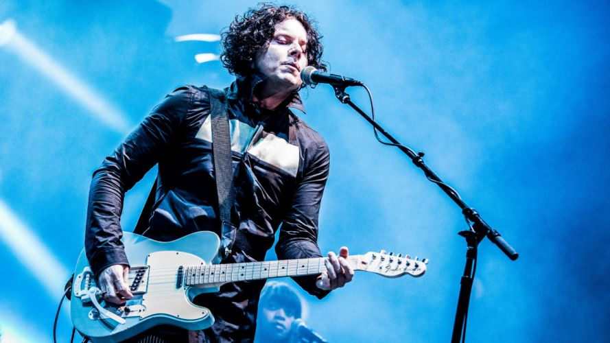 JACK WHITE White Stripes Raconteurs alternative alternative-rock rock concert guiater microphone wallpaper