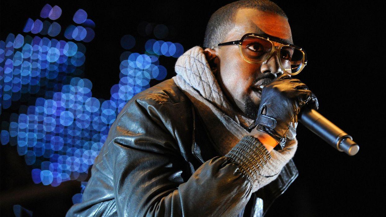 KANYE WEST hip hop rap concert microphone wallpaper