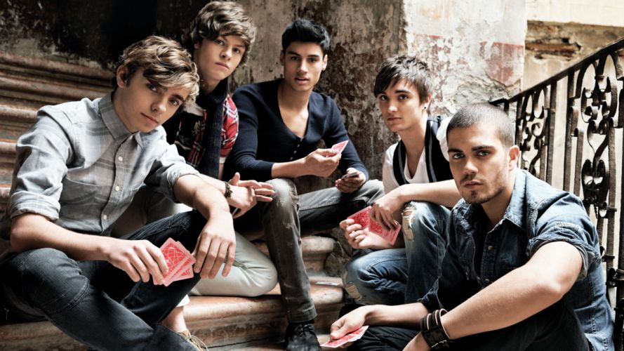 THE WANTED pop boy-band f wallpaper