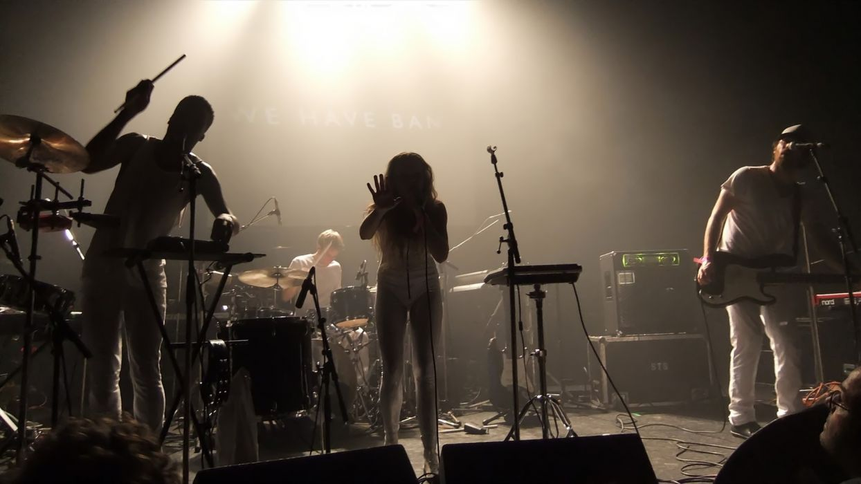 WE HAVE BAND synthpop indie pop New Wave concert microphone guitar drums_JPG wallpaper